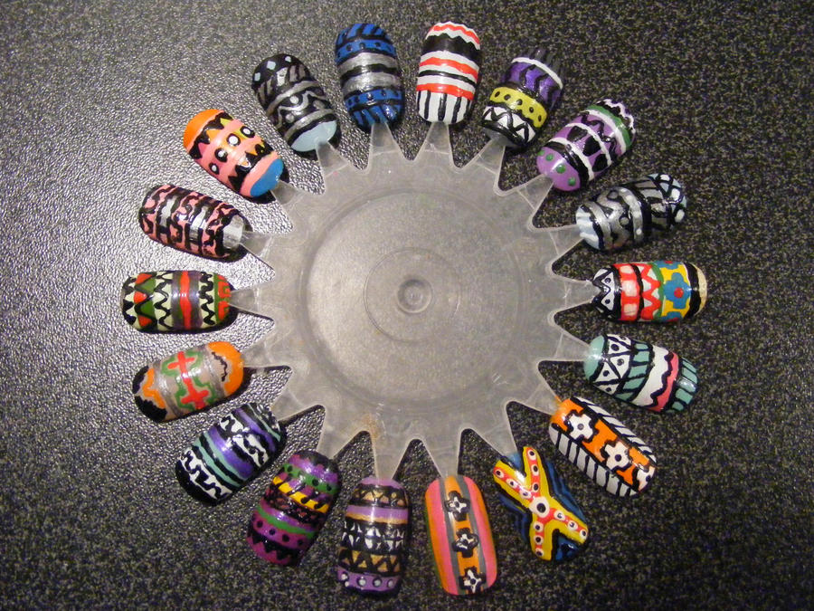 Nail Art Wheel 2 by Kimmmy on DeviantArt