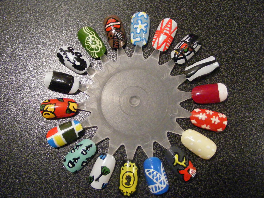Nail Art Wheel 3 by Kimmmy on DeviantArt