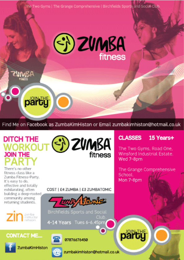 Zumba+Flyer+Ideas Zumba flyer by Kimmmy on DeviantArt