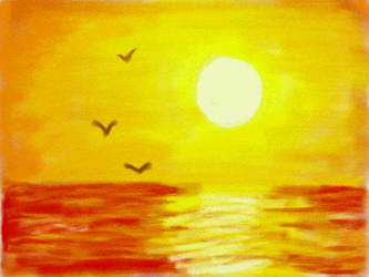 Sunset over the Sea by VATalbot