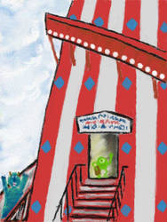 Mike and Sully at the Fun Fair by VATalbot