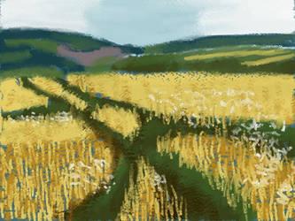 Barley field by VATalbot
