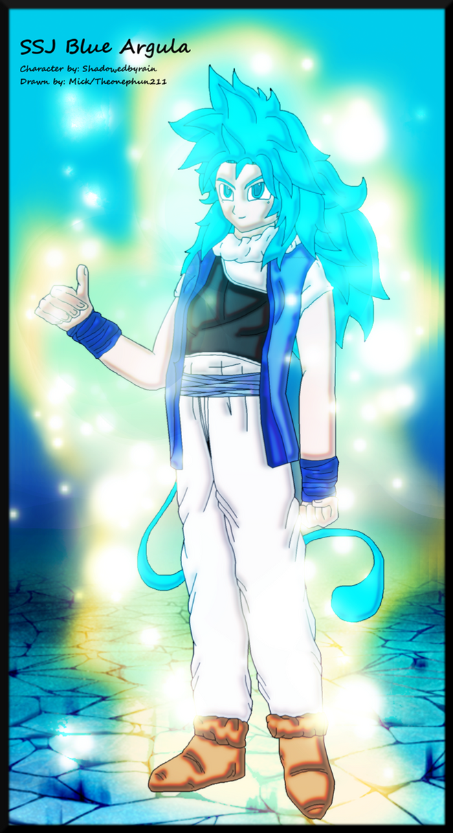 Commission: SSJ Blue Argula by TheOnePhun211