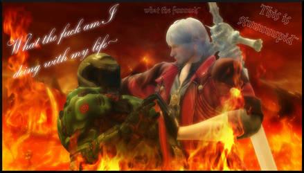 Doom Slayer and Dante's cursed fucking adventure by TheOnePhun211