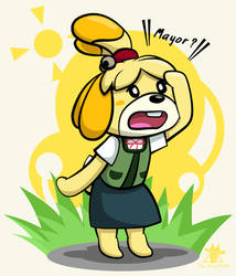 Isabelle search for her Mayor. [HNY Card Extra] by The-BlackToteM