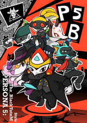 Blecky and his friends in Persona 5 Costume.