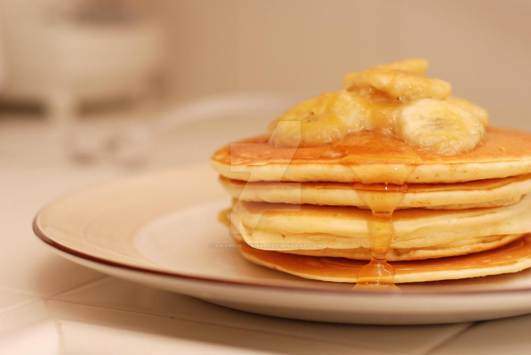 Pancakes with Banana Caramel by raymondtan85