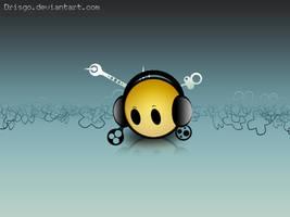 smiley headphones by Drisgo