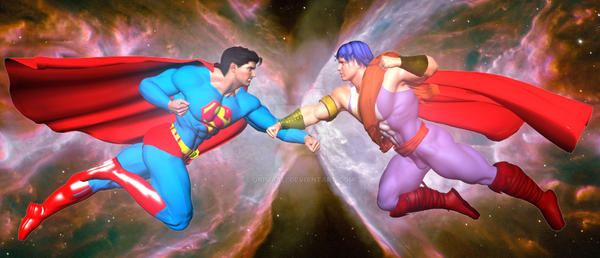Servant vs. Superman by giumabei