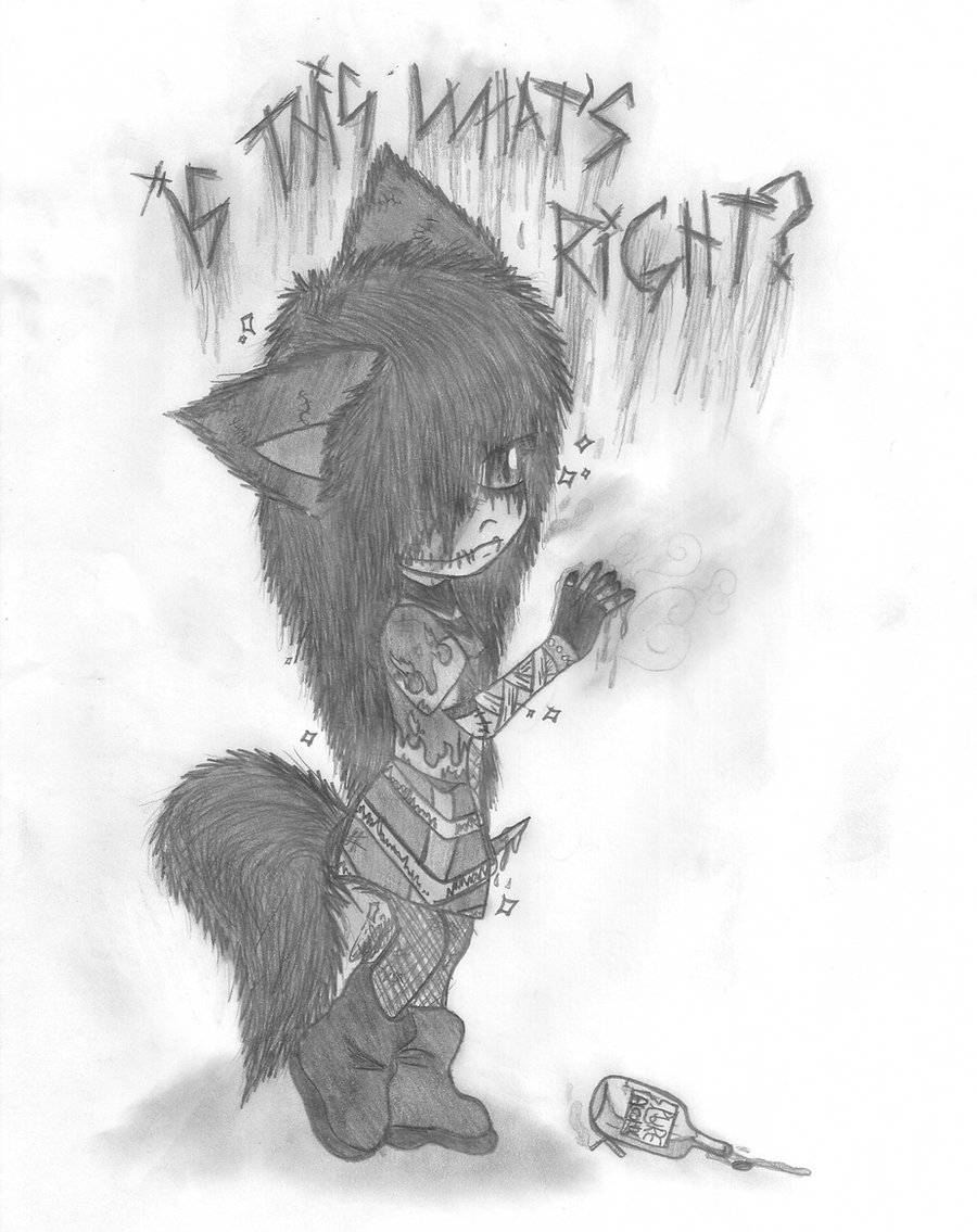 Depressed wolf drawing - photo#18