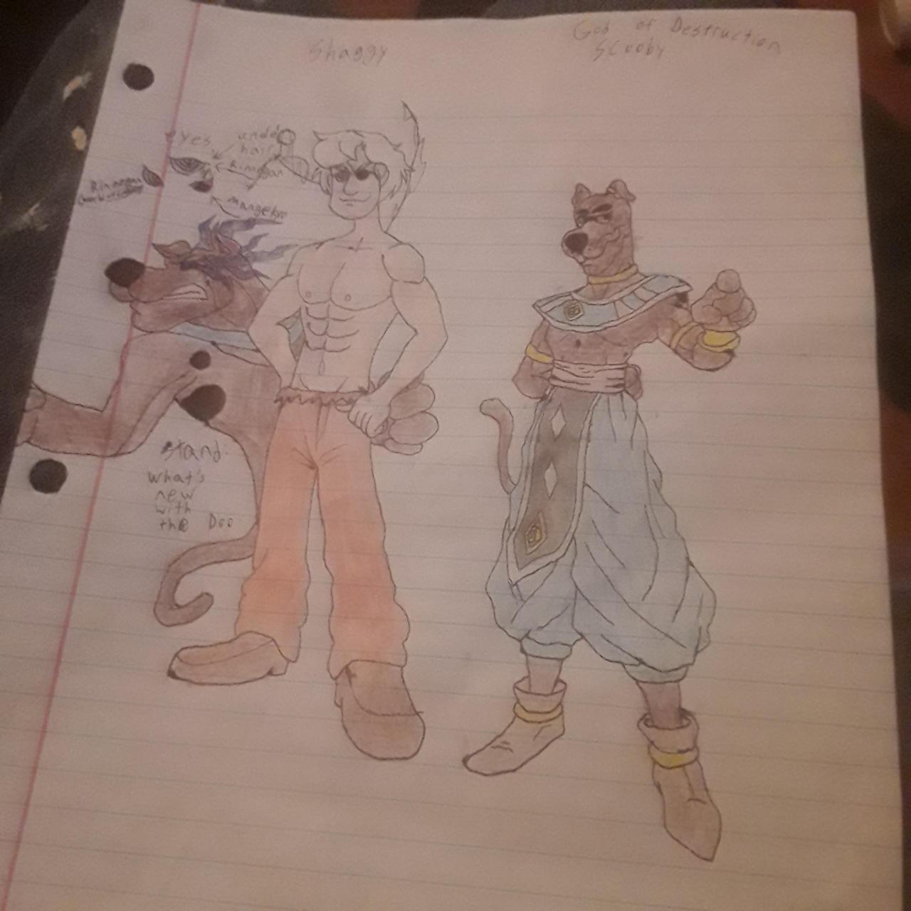 U.I. Shaggy and God of Destruction Scooby