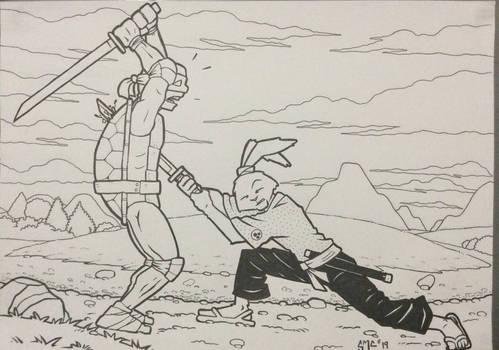 Usagi vs Leo fan art