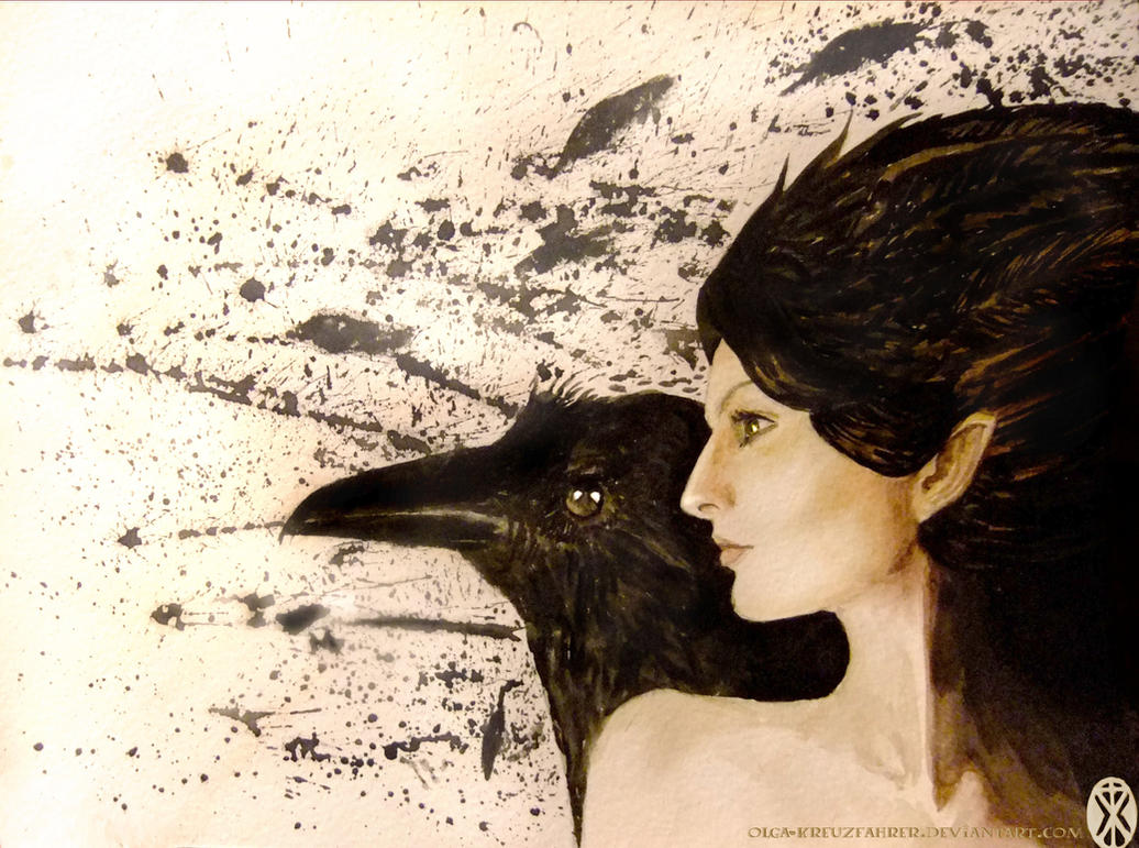 Great Lady of Ravens by olga-kreuzfahrer