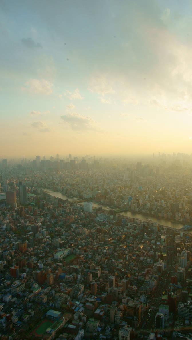 Skyline Tokyo sukai Tsu ri