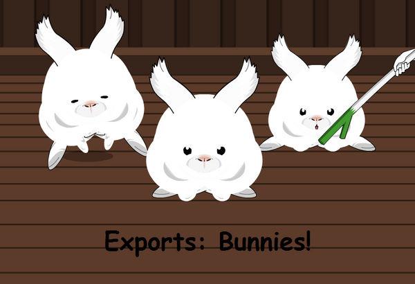 Exports: Bunnies!