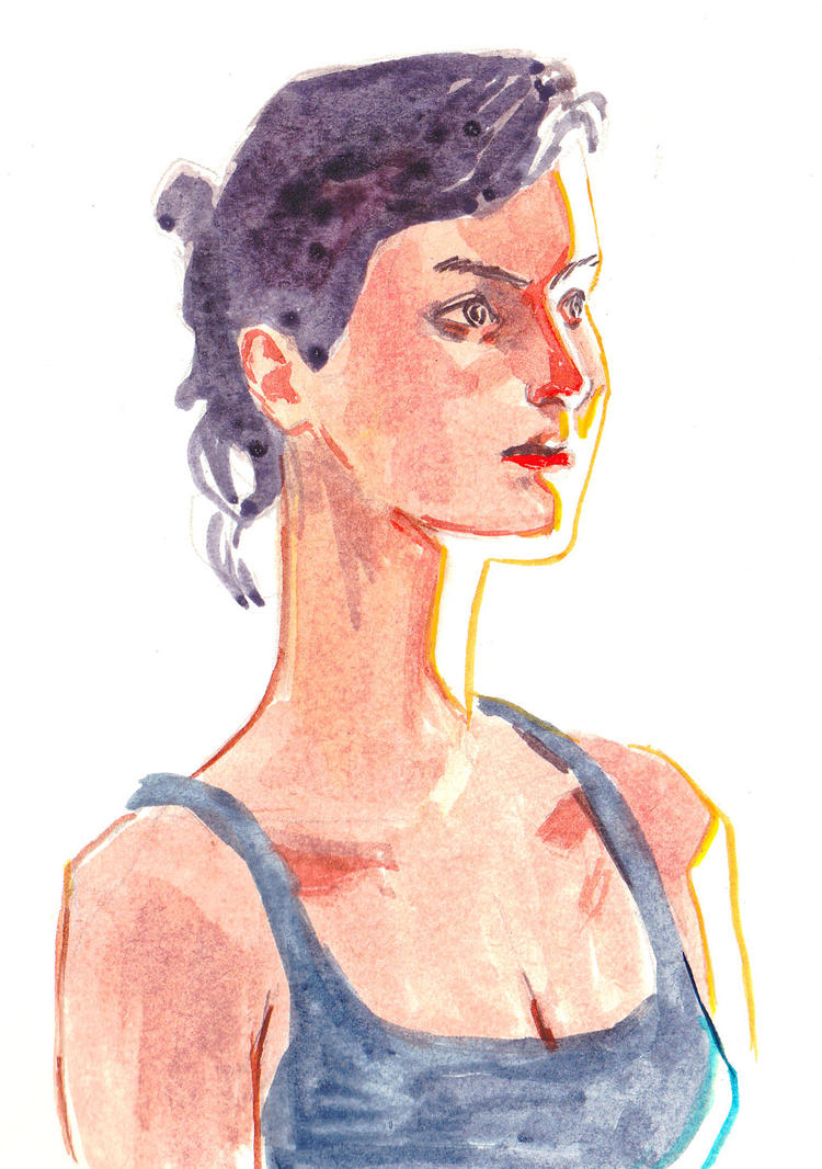 Watercolor study by FabianCobos