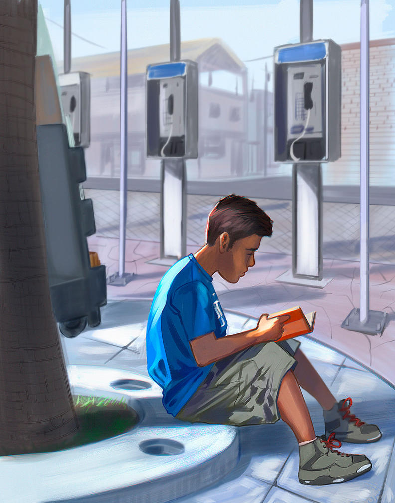 Kid Reading by FabianCobos