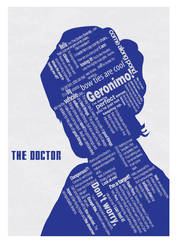 Doctor Who Typographic Poster