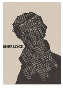 Sherlock Typographic Poster