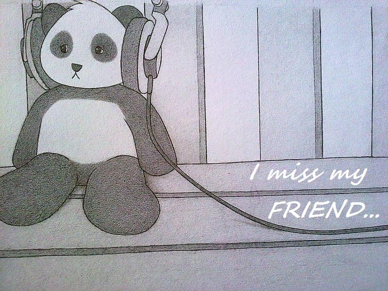 Sad panda. by OraCruz