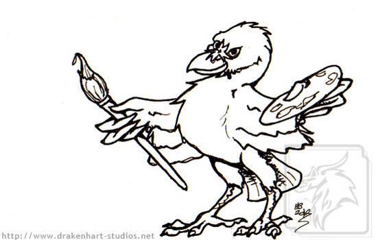 Inks raven artist