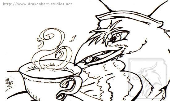 Tea Party Raven