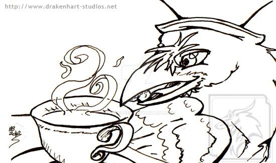 Tea Party Raven by halfbreed