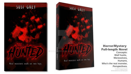 Book Cover Design for The Hunted