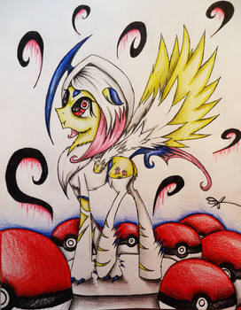 Fluttershy Cosplaying as Absol