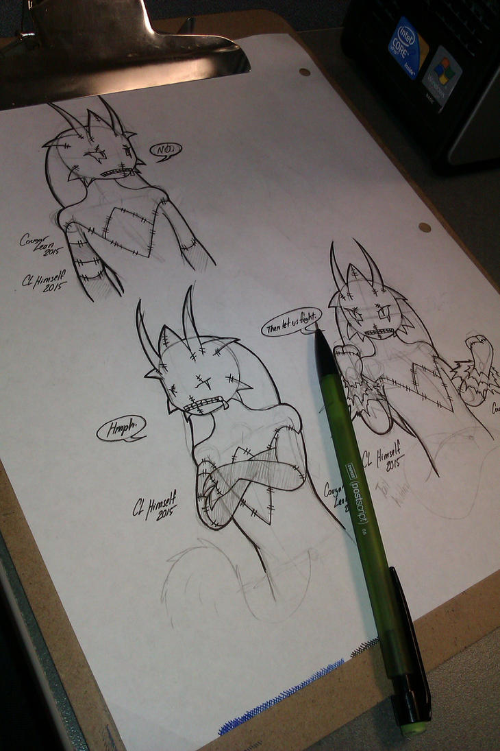 Deceased Blaziken - Phoenix doodles (Unfinished) by CougarLeon2
