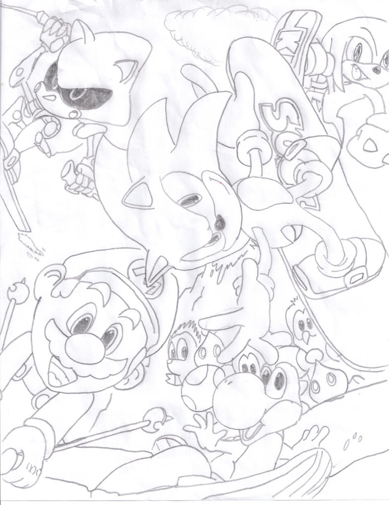 Mario Vs Sonic Pages Coloring Pages