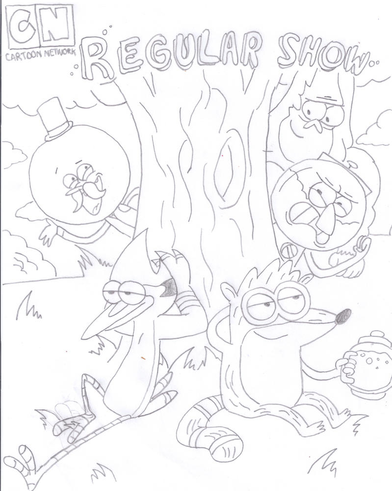 Regular show by spongedudecoolpants on deviantart for Regular show coloring pages