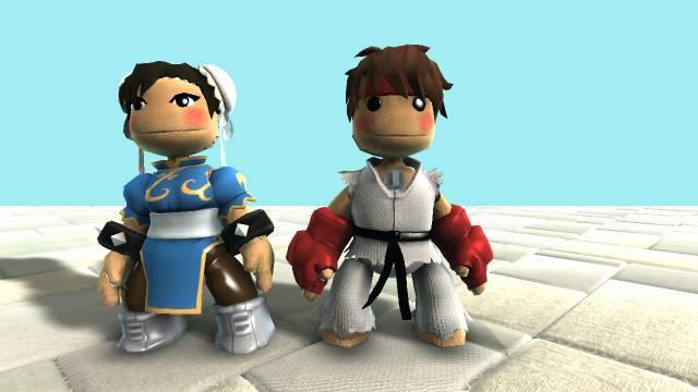 LBP Ryu and Chun Li by SpongeDudeCoolPants