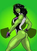 She-Hulk (coloring practice) by SpongeDudeCoolPants