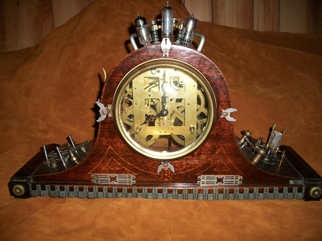 Steampunk mantel clock by kokomo1986 on deviantart - Steampunk mantle clock ...