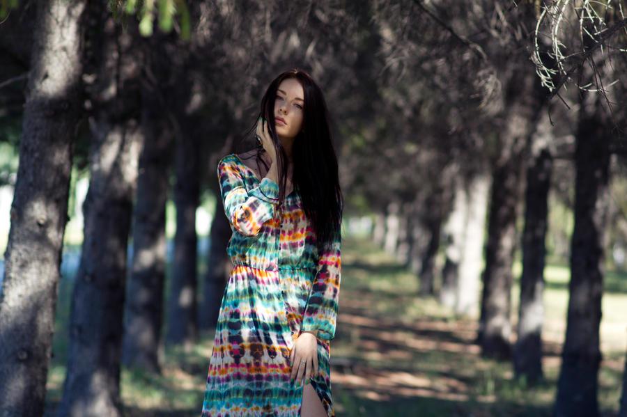 Daria in forest by Luria-XXII