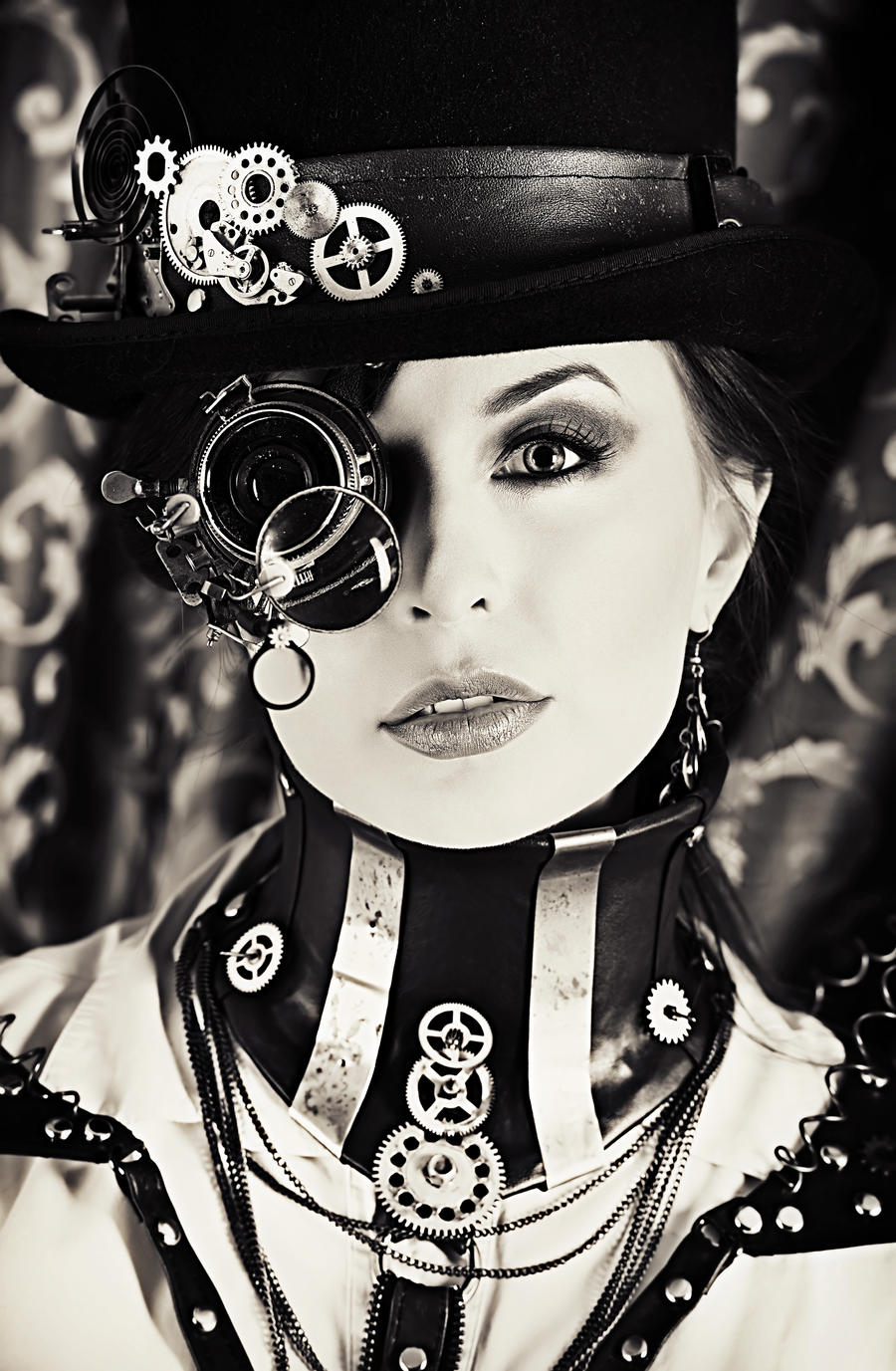 Steampunk portrait by Luria-XXII
