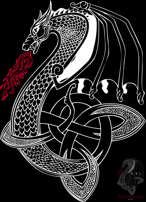 Celtic Dragon by RedIrishDragon