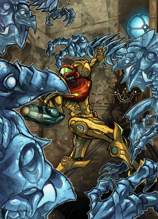 Metroid Prime-Chozo Ghosts by Joelchan