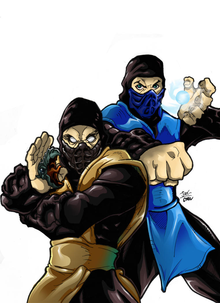Scorpion and Sub-Zero by Joelchan