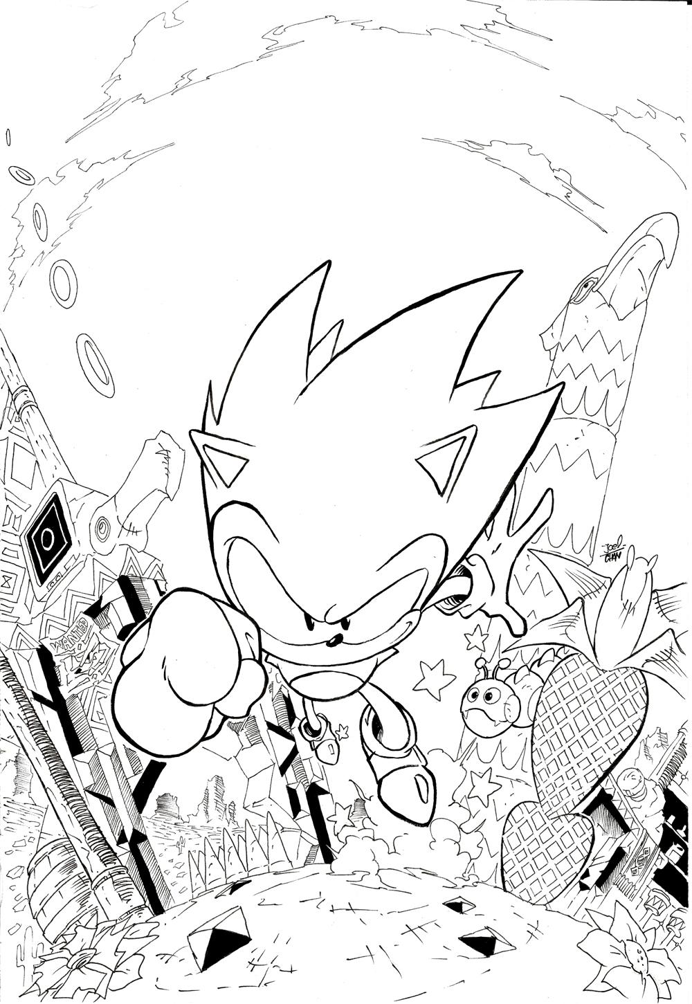 Sonic Mania mirage saloon inks by Joelchan on DeviantArt