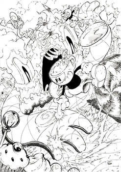 Cuphead in Sugarland Shimmy inks