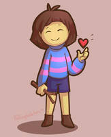 Frisk - Day 20 by FallingWaterx