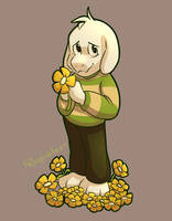 Asriel - Day 18 by FallingWaterx