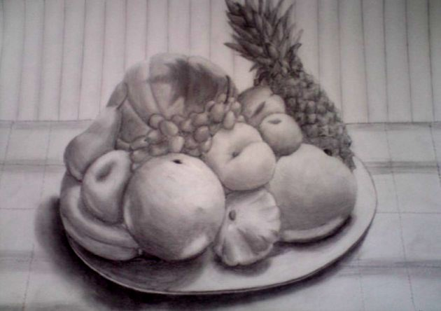Bowl of Fruit Drawing Fruit Bowl Decora630 x 444