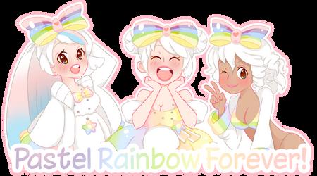 Rainbow Pastel Forever Guild Banner