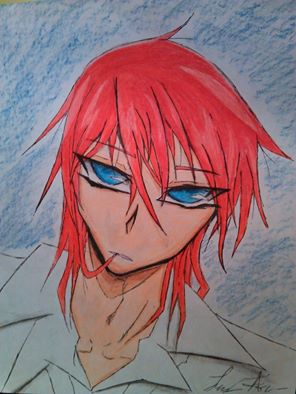 Anime Guy With Red Hair And Blue Eyes By Yamijackieandjackie
