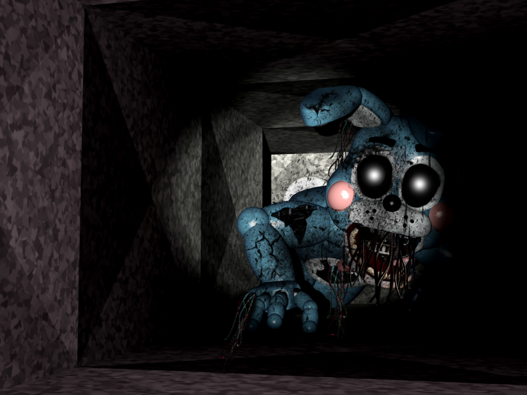 FNAF- Shattered Toy Bonnie in the Air Vent FANMADE by ...