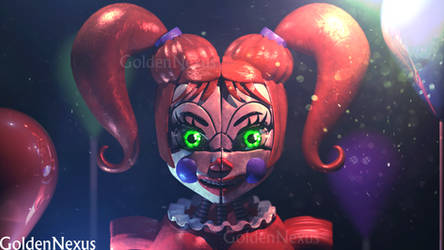Stylized Circus Baby (Third Update) by GoldenNexus