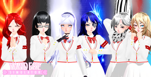 [MMDXYS]TDA Student Council menbersV2+dl by BrokenRose06